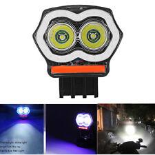 1pc Aluminum 20W 2000LM LED Motorcycle Headlight Angel Eyes Spotlight Waterproof