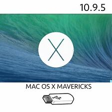 OS X MAVERICKS 10.9.5 USB BOOTABLE INSTALLER FIX REPAIR MACBOOK AIR PRO IMAC OS