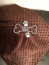 Personalized Dog Puppy Paw prints Blanket Super Soft Minky Fleece Pet Blanket