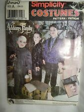 Costume Adams Family 0630 Childs It S - L Simplicity Vtg Sewing Pattern UC FF