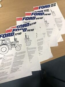 FORD Tractors 10 Series Leaflet Sales Brochure X 7