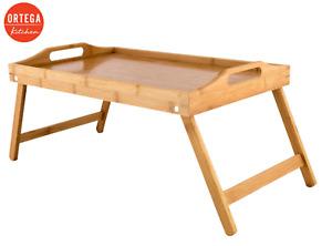 Ortega Kitchen Bamboo Bed Tray -  Desk Bed Tea Food Breakfast Dinner TV Table