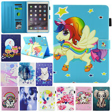 Magnetic Unicorn Leather Stand Card Smart Case Cover For iPad 234 Pro Mini Air 2