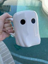 "New listing Martha Stewart Collection Ghost Mug Halloween 4.5"" Tall x 3.75"" Diameter, New"