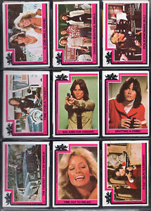 Charlies Angels Topps Trading Card Set #1-187 + Stickers #1-33 NM   1977