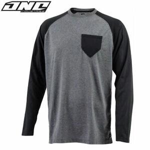 One Industries T-Shirt TECH Grey/Black LARGE Casual Long Sleeve MX BMX Clothing