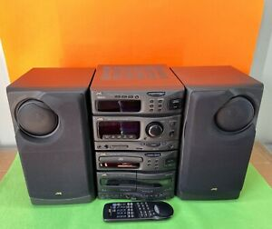 JVC MX-S60R Compact Component Hi-Fi System with Speakers CD Tape Radio Remote