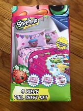 Shopkins Microfiber Soft 4 Piece Full Sheet Set