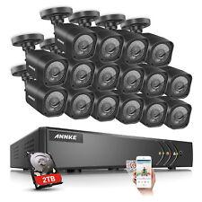 ANNKE 16CH 1080P HD H.264+ DVR 1500TVL 720P IR Cameras Home Security System 2TB