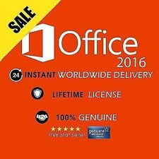 GENUINE OFFICE PROFESSIONAL PLUS 2016 32 /64BIT LICENSE KEY SCRAP PC
