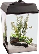 AQUATUNES 2.5 GALLON CORNER VIEW FISH AQUARIUM PLAYS MUSIC - MP3 PLAYER AND SPEA