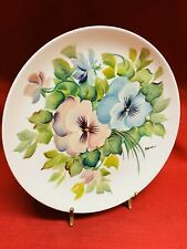 """Hand Painted Floral Decorative Plate 10 3/8""""dia."""