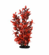 Aquarium Decor Fish Tank Decoration Ornament Artificial Plastic Plant Red 15""