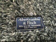 NWT Abercrombie & Fitch Men's  Full-Zip Sherpa Jacket Grey Size M
