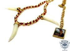 WHOLESALE 5pc LOT DISNEY COUTURE PRINCESS & FROG TIGER TEETH NECKLACES~$17 EACH!