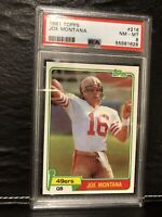 1981 Topps Football Joe Montana ROOKIE RC #216 PSA 8 NM-MT Had This Card 4 9 Yrs