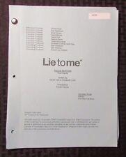 2009 LIE TO ME TV Show Script Episode #2APW06 Fold Equity FVF 48 pgs 9/11/09