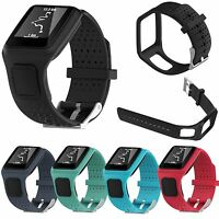 Silicone Bracelet Bande Sangle Pour TomTom 1 Runner&TomTom Multi-Sport GPS Watch