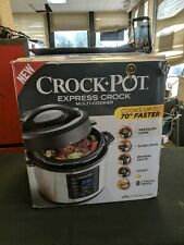 Crock-Pot - Express 6-Quart Pressure Slow  Cooker Programmable Stainless Steel