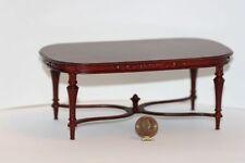 Dollhouse Miniature Mahogany Hand Carved Oval Table