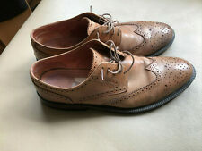 Mens Shoes By CLARKS Brown Leather Brogues Size 10 in good used condition