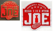 "DETROIT RED WINGS PIN PATCH SET ""THE JOE"" FAREWELL SEASON STANLEY CUP CHAMPIONS"