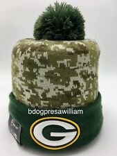 NFL Green Bay Packers New Era Salute to Service On Field Beanie Knit Hat