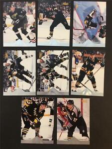 1996/97 Pinnacle Premium Stock Pittsburgh Penguins Team Set 8 Cards
