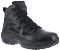 "Reebok RB8678 Men's Black 6"" Soft Toe Cushioned Side-Zip Stealth Tactical Boots"