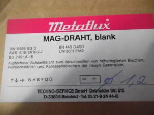 Metaflux MAG-Draht, blank, Ø1,2mm, 15kg, Din 8559  SG3, kupferfrei