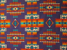 Navajo Indian Multi II Purple Orange Teal  Print Cotton Fabric FQ