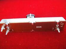2pc B-50K ohm Potentiometer Linear Slide Pot Resistor Switch with Cap Knob,B50KA