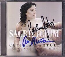 Cecilia BARTOLI & Giovanni ANTONINI Signed SACRIFICIUM La Scuola dei Castrati CD