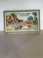 "Vintage Wood Jig-saw Puzzle The ""Victory"" Farmyard Made In England 4-8 Yrs Old"