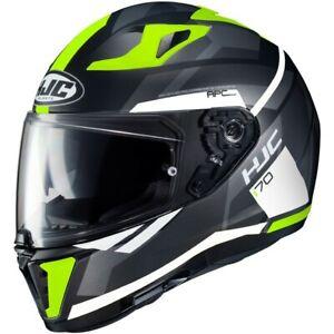HJC i70 Elim MC4HSF neon gelb Dekor Motorrad Helm Integralhelm Sonnenblende NEU