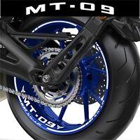 LISERETS JANTES MOTO MT09 MT 09 STICKERS kit pour 2 jantes 40 couleurs