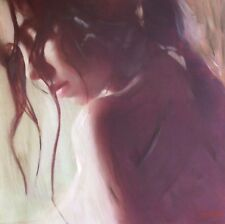 "WILLIAM OXER ORIGINAL CANVAS ""Nymph"" Dream Brunette Woman Girl PAINTING"