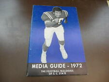 1972 SOUTH CAROLINA STATE COLLEGE FOOTBALL MEDIA GUIDE EX-MINT BOX 16
