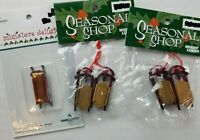 Christmas Sleigh Miniature Ornament Lot of 5 Craft Winter Village Dollhouse