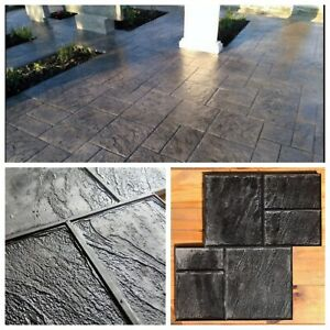 Gummi matten Beton Textur Stempel Dekordruck  Stempelbeton Strukturputz Altstadt