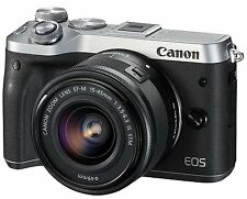 Canon EOS M6 Digital Camera EF-M15-45 IS STM Lens Kit  -Silver-