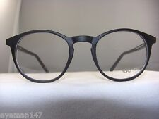 SOHO 123 MATT BLACK ROUND EYEGLASS FRAME
