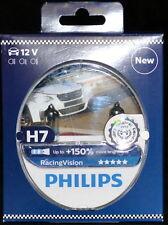 Philips RacingVision H7 bis zu 150% mehr Licht Halogenlampe 12972RV+S2 Duo 2Stük