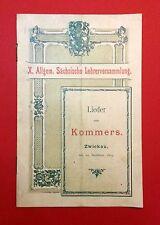Broschüre X. Allgem. Sächs. Lehrerversammlung 1894 Lieder zum Kommers ( F12969