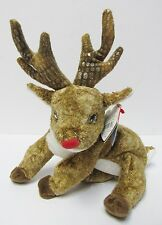 """Ty Beanie Baby """"Roxie"""" THE RED Nosed Reindeer PRISTINE, Brand New w/Mint Tags"""