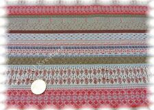 Stripe Amarina ecru rosé Sweatshirtstoff Hilco Sweaty Streifen 25 cm