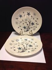 "Johnson Bros ""Titania"" Blue/White Flowers Dinner Plate Lot Of 2 Made In England"