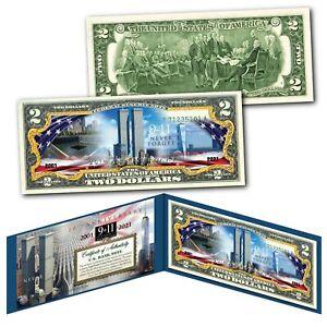 20th ANNIVERSARY 9/11 World Trade Center WTC 2001-2021 Official $2 U.S. Bill