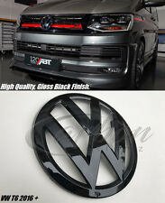 New VW Transporter T6 2016 + Gloss Black Front Grille Badge - High Gloss Finish