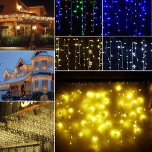 LED Rideau Guirlande Lumineuse Lumière Jardin Fête Noël Éclairage Décoration